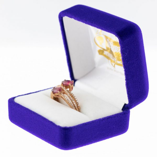 Athena ring rose gold ruby side view