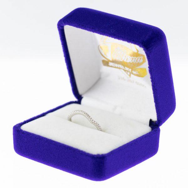 Athena ring white gold diamond side view