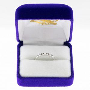 Athena ring white gold diamond front view