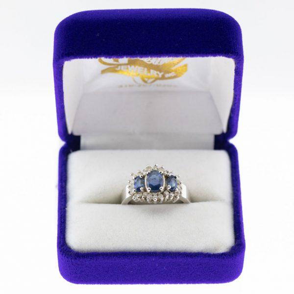 Athena ring white gold tourmaline front view