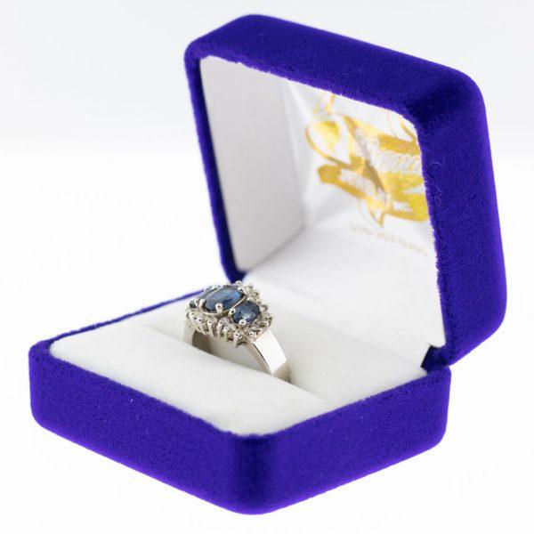 Athena ring white gold tourmaline side view